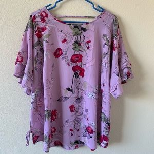 !!NEW!! LIKE NEW! maurices Floral Dressy Blouse
